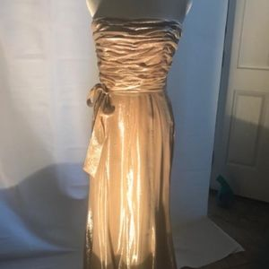 Rose Gold Lame formal gown